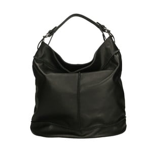 Černá kožená kabelka Roberto Buono Diana