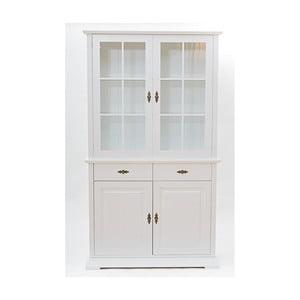 Vitrină cu 2 uși și 2 sertare Wermo Family Mari, alb