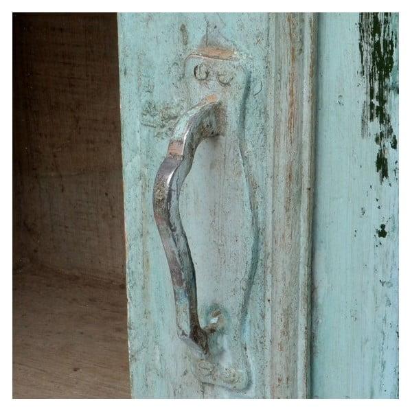 Prosklená skříň Goa 84x135 cm, modrá patina