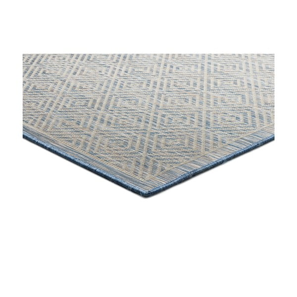 Modrý koberec Universal Kiara vhodný i do exteriéru, 170 x 120 cm
