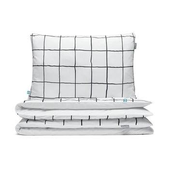 Lenjerie de pat pentru copii Mumla Grid, 100 x 135 cm de la Mumla