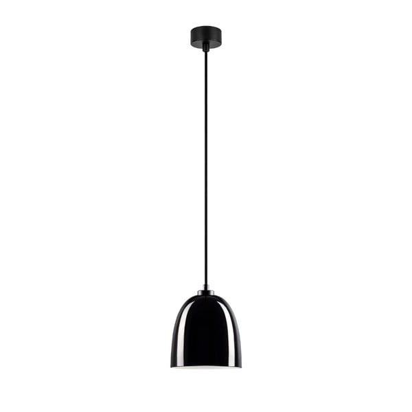 Černé lesklé závěsné svítidlo Sotto Luce Awa