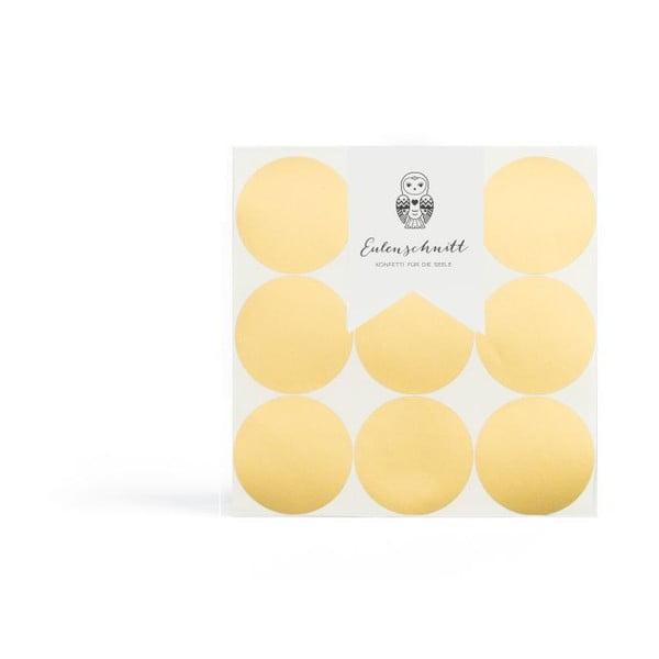 Samolepky na zeď Goldene Dots, 18 ks