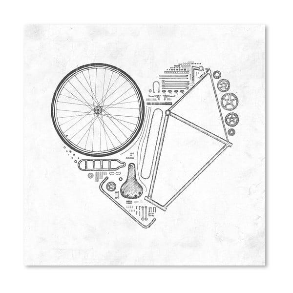 Plakát Love Bike od Florenta Bodart, 30x30 cm