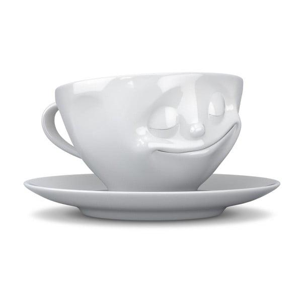 Bílý šťastný hrníček na espresso 58products
