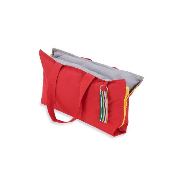 Skládací sedák Hhooboz 50x60 cm, červený