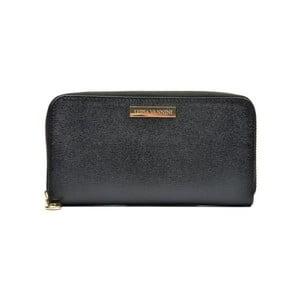Černá kožená peněženka Luisa Vannini Milia