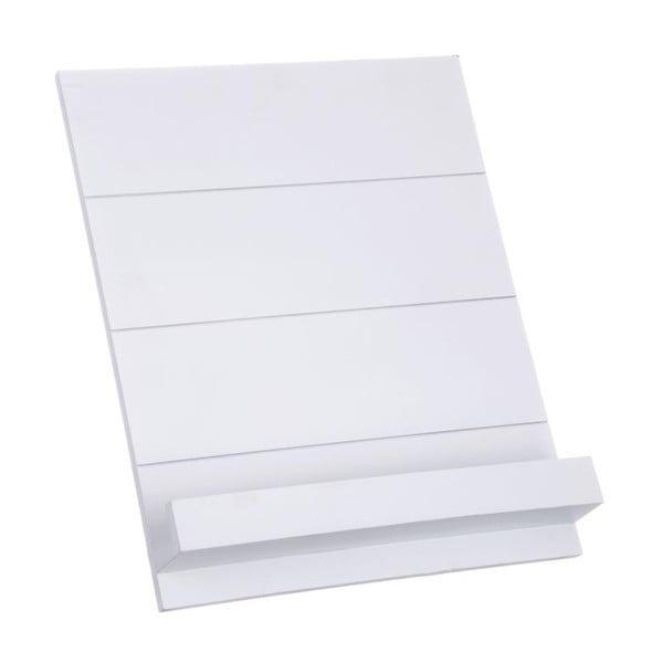 Dřevěná zarážka na knihy, bílá