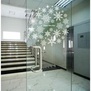 Samolepka Fanastick Christmas Stars and White Snowflakes