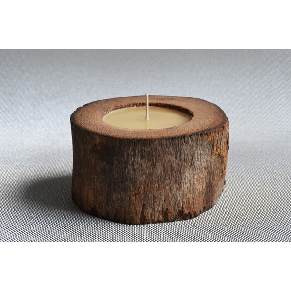 Palmová svíčka Legno se včelím voskem, 40 hodin hoření