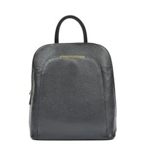 Černý kožený batoh RenataCorsi Marta