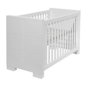 Pătuț pentru bebeluși, convertibil în pat pentru 1 persoană Núvol Laia, 60 x 140 cm, alb