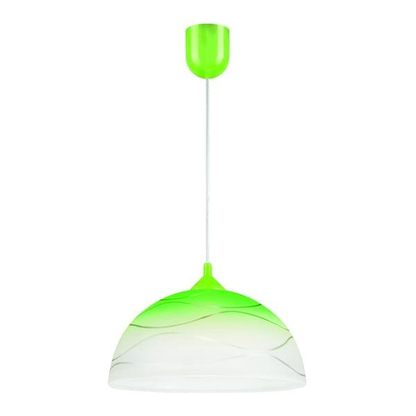 Zielona lampa wisząca Lamkur Waves