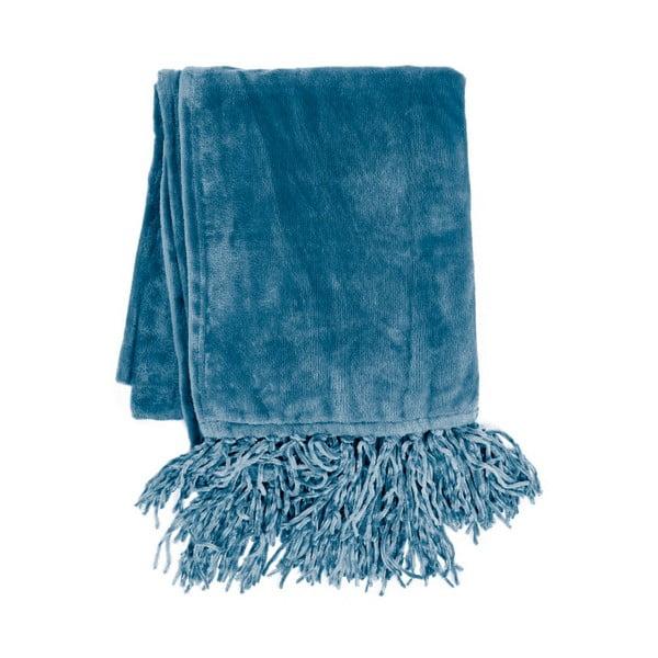 Niebieski koc Tiseco Home Studio Flanelo, 170x130 cm