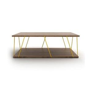 Konferenční stolek se žlutým detailem Rafevi Tars