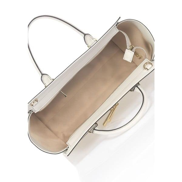 Světle šedá kožená kabelka Krole Kristina