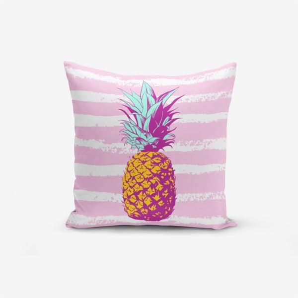 Față de pernă cu amestec din bumbac Minimalist Cushion Covers Colorful Pineapple, 45 x 45 cm