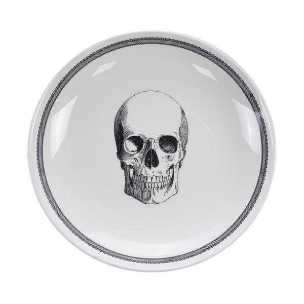 Bol Tokyo Design Studio Skull Bald, ø 24,5 cm, alb-negru
