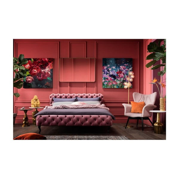 Růžové křeslo Kare Design Wallstreet
