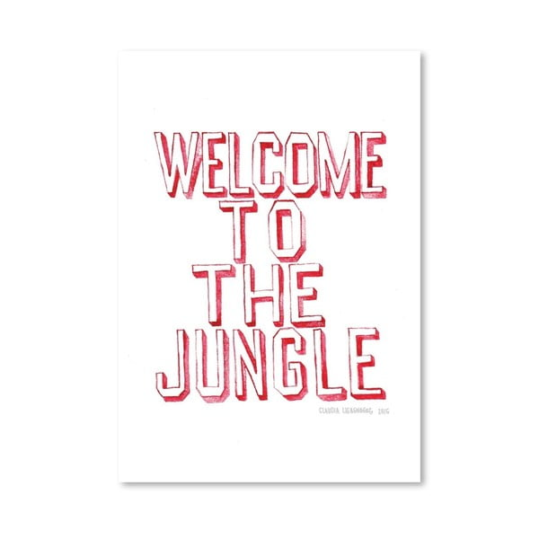 Plakát Welcome, 30x42 cm