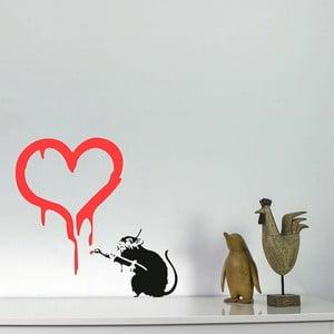 Samolepka na zeď Rat in Love by Banksy