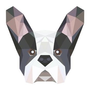 Autocolant Fanastick Origami Bulldog