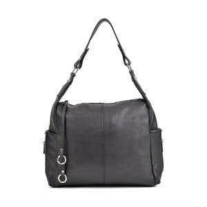 Černá kožená kabelka Mangotti Bags Claudia