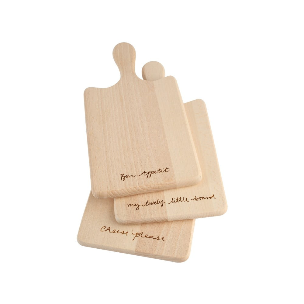 Sada 3 prkének z bukového dřeva T&G Woodware Bon Appetit