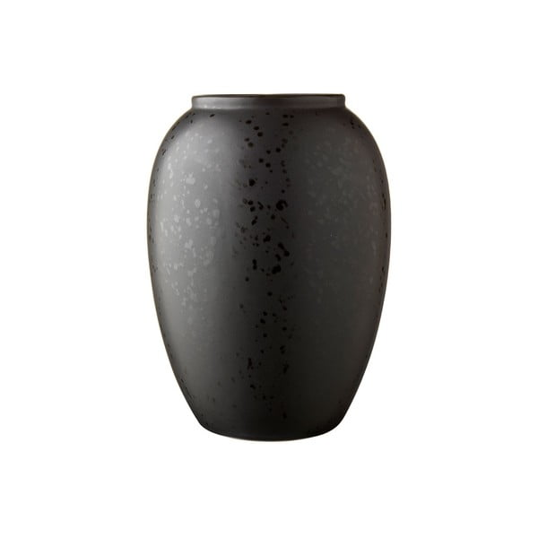Černá kameninová váza Bitz Basics Black, výška 20 cm