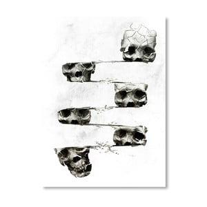 Autorský plakát Distorted Skull
