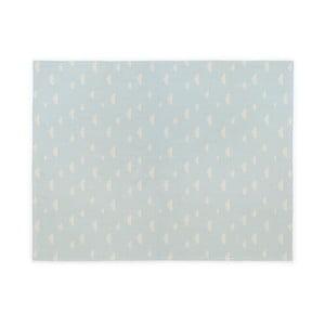 Modrý dětský bavlněný ručně vyrobený koberec Naf Naf Clouds, 160 x 120 cm