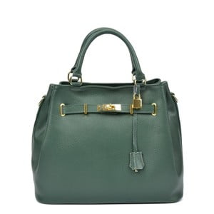 Zelená kožená kabelka Isabella Rhea Paris Verde