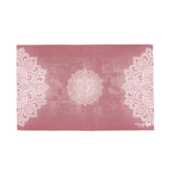 Prosop mic pentru yoga Yoga Design Lab Mandala, 61 x 38 cm, roz imagine