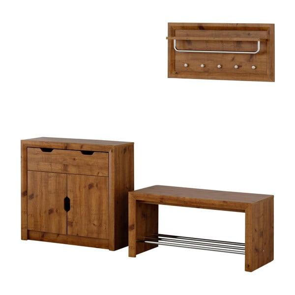 Komplet szafki na buty, ławki i półki Støraa Bentley