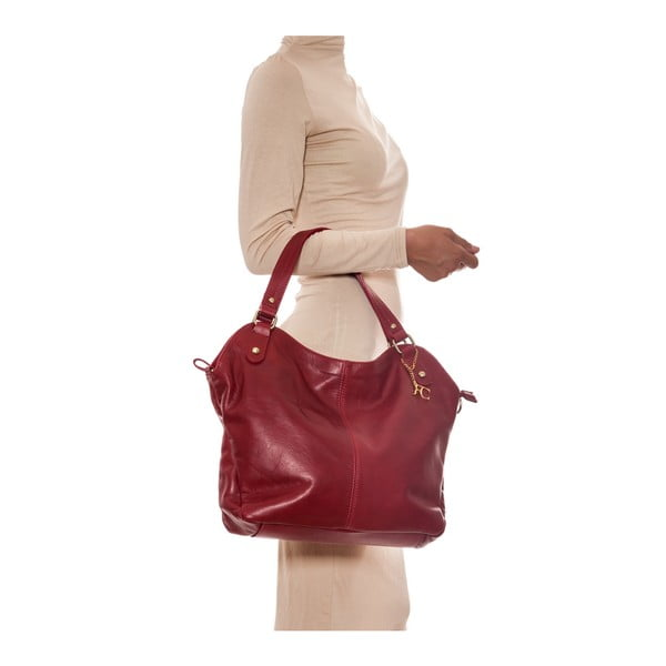 Kožená kabelka Renata Corsi 2114 Rosso