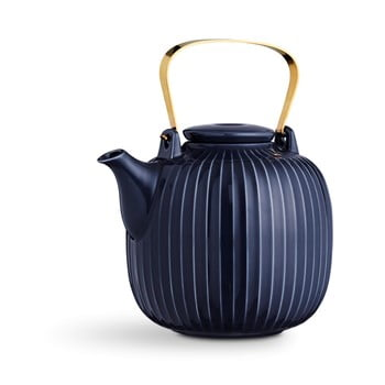 Ceainic din porțelan Kähler Design Hammershoi, 1,2 l, albastru închis imagine