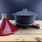 Litinový hrnec Netherton Foundry na pomalé vaření s Tajine Red
