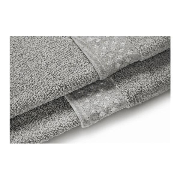 Set šedé osušky a ručníku z bavlny Maison Carezza Lazio