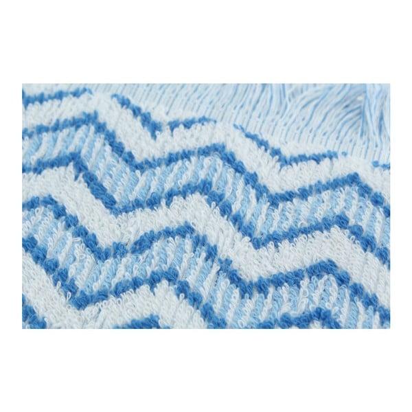 Set 2 osušek Zig Zag Blue, 70x140 cm