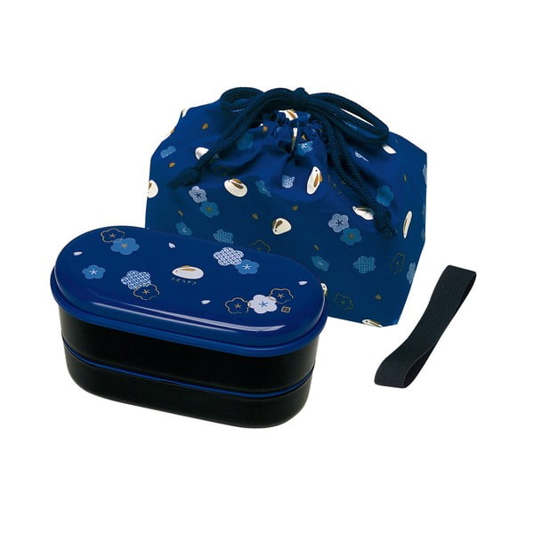 Svačinový box se sáčkem Furawa Blue, 630 ml
