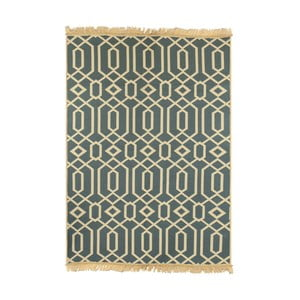 Modrý koberec Floorist Kenar Blue Beige, 80x150cm