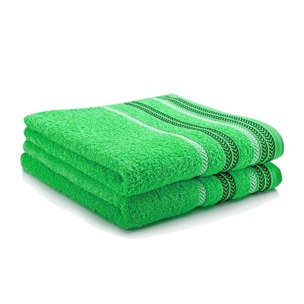 Sada dvou ručníků Hugo 50x90 cm, green