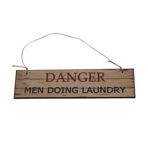 Závěsná cedule Men Doing Laundry, 40x10 cm