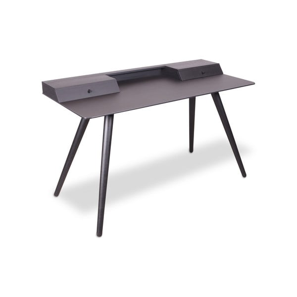 Černý psací stůl WOOD AND VISION Stick, 136 x 60 cm