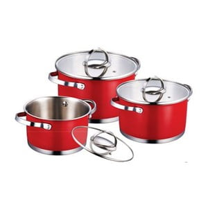 Set Cookware Red, 6 ks