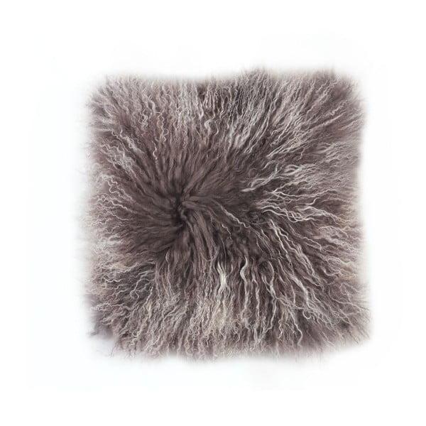 Kožešinový polštář Tibetian Frost, 50x50 cm