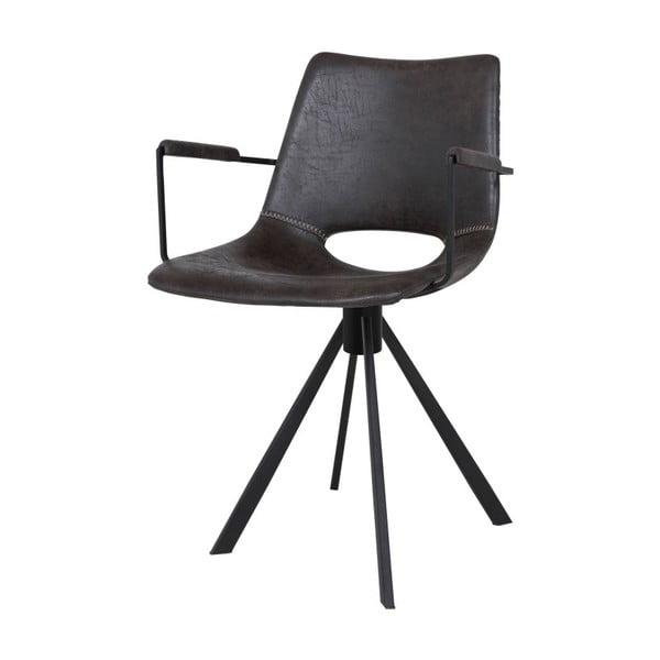 Tmavě šedá jídelní židle s opěradly Canett Coronas