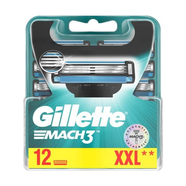Náhradní hlavice do pánského holicího strojku Gillete Mach3, 12ks