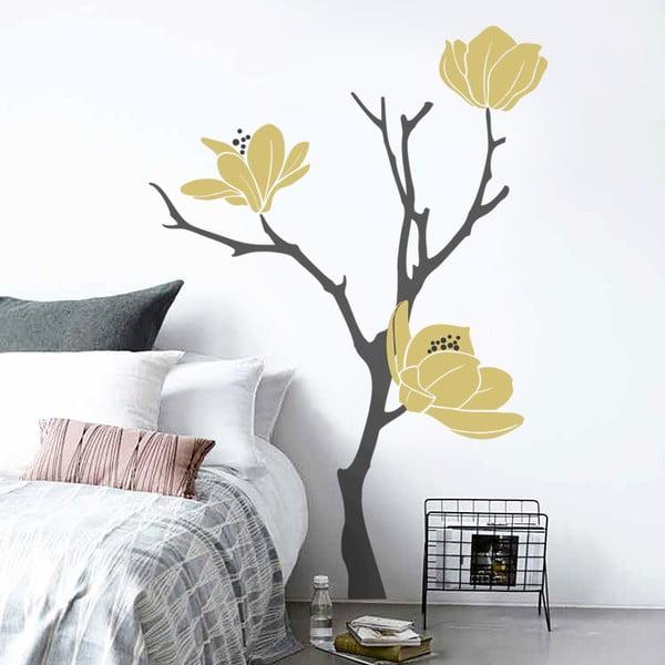 Samolepka na zeď Zlatá magnolia, 70x50 cm