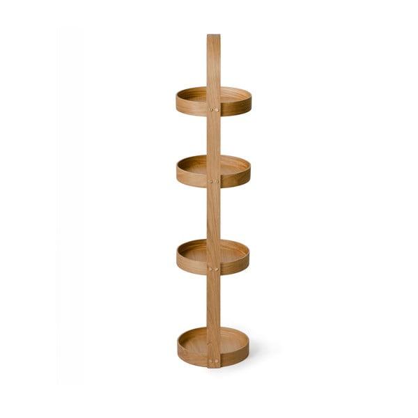 Dřevěný stojan do koupelny Wireworks Round Caddy Mezza, 4 police
